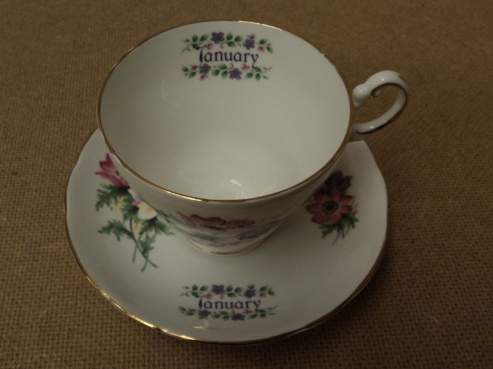 Heritage Regency Vintage Tea Cup & Saucer 5 3/8in Diameter x 3 1/2in H China