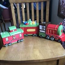Gibson Home Santa Train Car Caboose Cookie & Candy Jar Christmas Set Of 3 NWT - $59.40