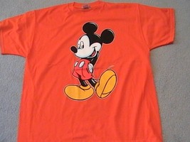 Mickey Mouse on a extra large (XL) Orange tee shirt - $20.00