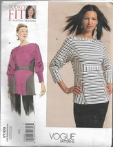 VOGUE PATTERNS Today's FIT By Sandra Betzina Pattern #V1109-Misses Top-S... - $12.16