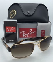 New Ray-Ban Sunglasses RB 3522 001/13 61-17 Gold & Tortoise Frame w/ Brown Fade