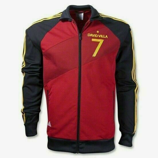 09e57793d88 Adidas 3 Stripes Spain David Villa Soccer Track Jacket Limited Edition 2011  GUC - $108.90