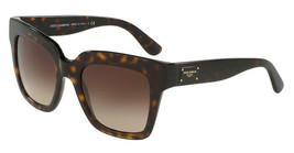 DOLCE & GABBANA DG4286 502/13 Havana Brown Gradient Square Sunglasses - $169.95