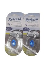 2x Refresh Your Car! Odor Eliminating Mini Diffuser New Car Vent Clip - $8.41