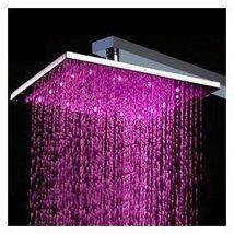 12 Inch Chromed Brass LED Rainfall Shower Head (0913 -8109) - $116.80
