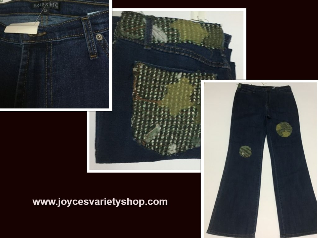 Boho chic jeans web collage