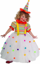 Candy Clown Circus Carnival Girl Fancy Dress Up Halloween Toddler Child ... - £28.02 GBP