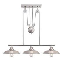 Westinghouse Lighting 6369900 Iron Hill Three-Light Indoor Island Pulley Pendant - $164.98