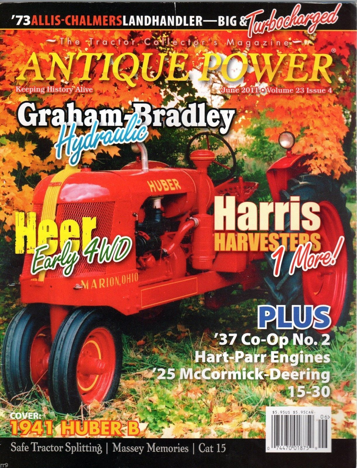 Primary image for Antique Power  Magazine June 2011 The Tractor Collector's Magazine