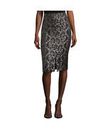 Worthington Pencil Skirt Black/Grey Jacquard Size 6 New Msrp $44.00 - $19.99