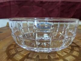 """BADASH Lead Crystal Bowl Poland 7-1/2"""" Diameter 3"""" High  w/ Sticker & Si... - $17.82"""
