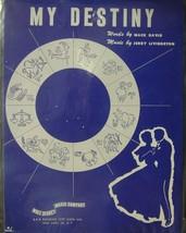 sheet music My Destiny Walt Disney Music Co. Zodiac Cover - $7.38