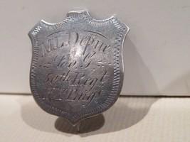 CIVIL WAR SILVER ID SHIELD-ML DEPUE-50TH REGIMENT NEW YORK-A RARE FIND! - $3,955.05