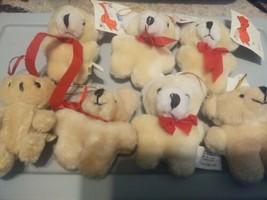 Lot Of 7 Teddy Bear Christmas Ornaments - $12.38