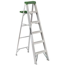 Louisville Ladder 6-Foot Aluminum Step Ladder, 225-Pound Capacity, AS4006 - $104.41