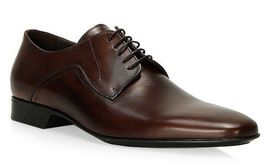 Handmade Men's Brown Derby Style Dress/Formal Oxford Leather Shoes image 4