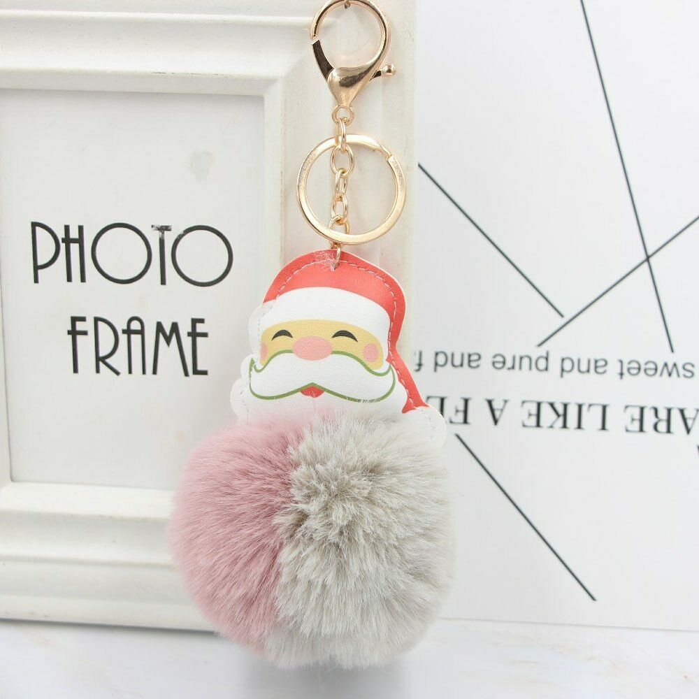VOILEY® Merry Christmas Ornaments 1pcs Santa Claus Alloy Keychain Christmas Gift