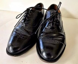 Cole Haan Mens 8.5D Black Lace Up Wing Tip Dress Shoes 172930 Soletech 1... - $87.29