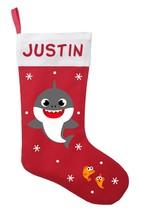 Baby Shark Christmas Stocking, Baby Shark Stocking, Personalized Baby Shark - $29.99