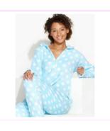 Jenni by Jennifer Moore Pattern Hooded Footed Jumper,Blue Heart, Size M,... - $17.60