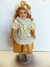 """Victorian Star Porcelain Doll with Display Stand Collector's Edition - 16"""" - $17.69"""
