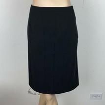 Ann Taylor Black Panel A Line Skirt 10 - $30.23