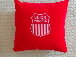 Union Pacific Felt Pillow with Hidden Blanket inside (#3085). - $74.99