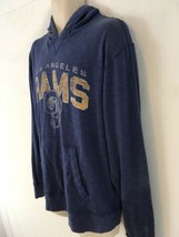 Vtg 47 Brand NFL Team Apparel LA Rams L Blue Hoodie Hooded Sweatshirt - $78.21