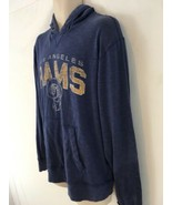Vtg 47 Brand NFL Team Apparel LA Rams L Blue Hoodie Hooded Sweatshirt - $78.21