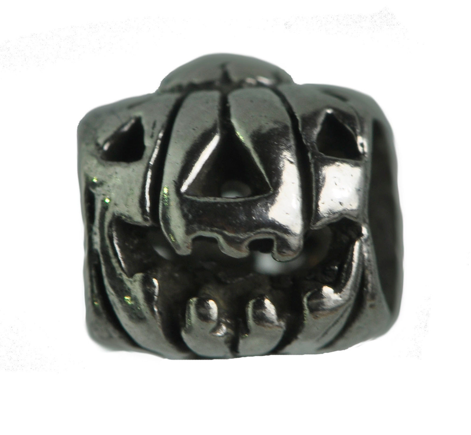 Primary image for HOT Halloween Laugh Pumpkin Charm bead for bracelet Sterling silver Jack-o'-lant