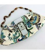 PUTU by J MacLear Handmade  Purse Handbag Paisley Fabric Bamboo Handles ... - $49.49