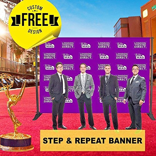 Custom Step and Repeat Banner Photography Backdrop, Free Design Step & Repeat, P