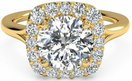 1.50CT Round Forever One DEF Moissanite & Diamond Ring 14K Yellow Gold - $1,385.00