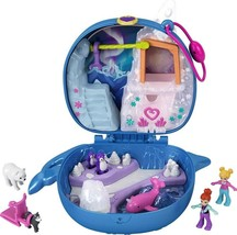 Polly Pocket Freezin' Fun Narwhal Compact with Fun Reveals, Micro Polly ... - $19.94