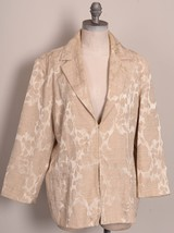 Chicos Gold Tone on Tone Cotton Polyester Blend Blazer Size 3 - $34.64