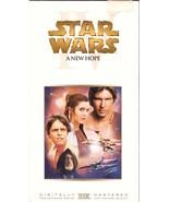 Star Wars IV A New Hope VHS Mark Hamill Harriso... - $2.49