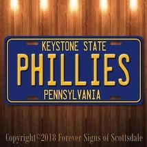 Philadelphia Phillies MLB Baseball Team Pennsylvania State Vanity Licen... - $12.82