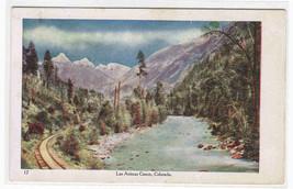 Railroad Track Las Animas Canon Colorado postcard - $5.94