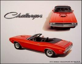 1971 Dodge Challenger 383 Conv Mopar Print Lithograph - $16.47