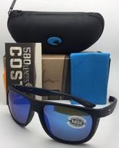 Polarizados Costa Gafas de Sol Kiwa Kwa 111 Negro Mate Teca Marco W/ Espejo Azul