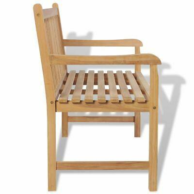 "vidaXL Teak Outdoor Bench 47.2"" Patio Chair Backyard Seat Garden Furniture"