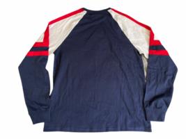 NWOT New Men Fila Navy Blue Athletic Long Sleeve Shirt Sz M Medium Cotton image 3