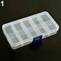 Jewelry Storage Box Compartment Detachable Earrings Necklace Rings Brace... - $8.06