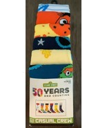Sesame Street 6 Pk Crew Socks Sz 8-12 Age 14+ Elmo Cookie Big Bird Oscar... - $24.75