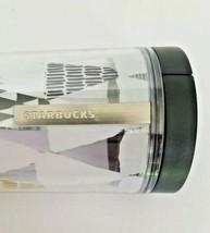 Starbucks Christmas Holiday Trees Silver Logo 16 oz Tumbler White Black Gold - $12.82