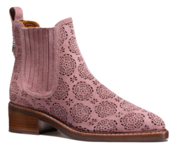 Coach Bowery Tea Rose Cutout Chelsea Bootie Dusty Rose Size 9 - $292.05