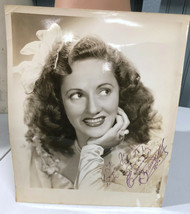 Connie Boswell Singer VTG Autographed 8 x 10 Promo Photo - $41.35