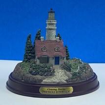 Thomas Kinkade Lighthouse statue sculpture figurine painter light Cleari... - $29.65