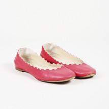 Chloe Scalloped Leather Flats SZ 38.5 - $175.00