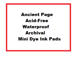 Ancient Page Mini Ink Pads, You Choose!